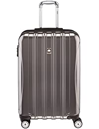 Delsey Luggage Helium Aero, Medium Checked Luggage, Hard Case Spinner Suitcase, Titanium
