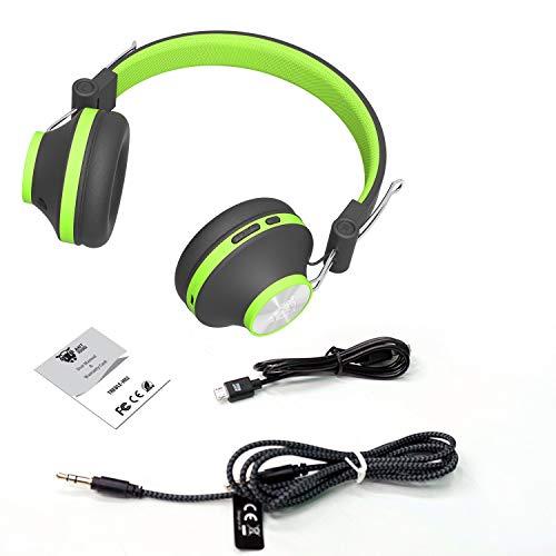 (Renewed) Ant Audio Treble H82 On-Ear Bluetooth Headphones with Mic (Green)