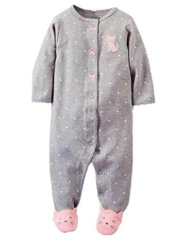 Kidsform Baby Footies Pajamas Cotton Romper Footed Sleep and Play Long Sleeve Sleeper 3-12 Months