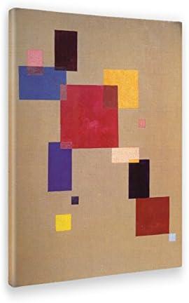 Vari Formati Stampa su Tela Canvas Kandinsky Quadri Moderni di Tela Giallobus Quadro Quadro Astratto sul Bianco II 70 x 70 CM