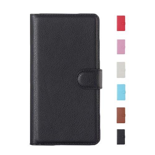E8Q lujo Colorida a prueba de choques de la PU de cuero del caso cubierta protectora del carpeta de la tarjeta soporte para One Plus 2 Rosado