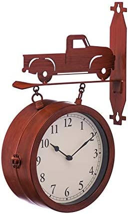 Cape Craftsmen 2-Sided Outdoor Wall Clock and Thermometer with Truck Icon