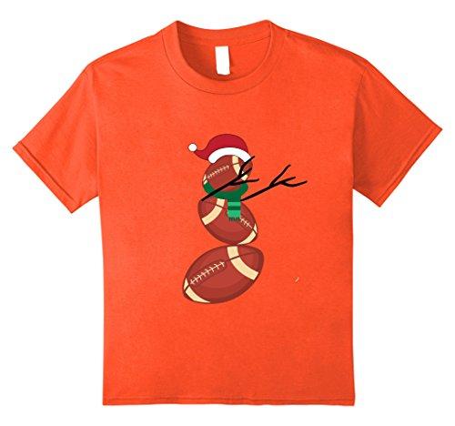 Kids Dabbing Snowman Christmas T-Shirt Football Player Coach Fan 8 Orange Orange Football Fan T-shirt