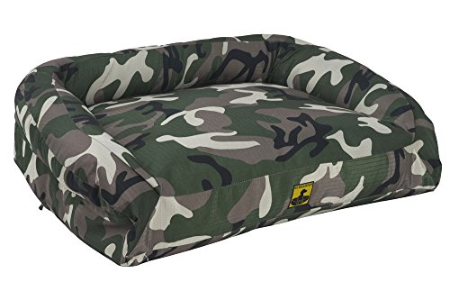 K9 Ballistics Nesting Bolstered TUFF Bed Green Camo - X-L...