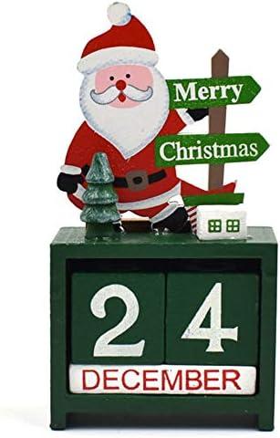 [해외]NOVMAY 크리스마스 카운트다운 캘린더 나무 블록 영구 책상 캘린더 순록 눈사람 산타 레트로 크리스마스 홈 오피스 데코레이션 / NOVMAY Christmas Countdown Calendar Wooden Blocks Perpetual Desk Calendar Reindeer Snowman Santa Retro Christm...