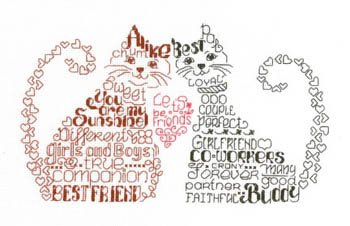 Let's Be Friends Cross Stitch Chart