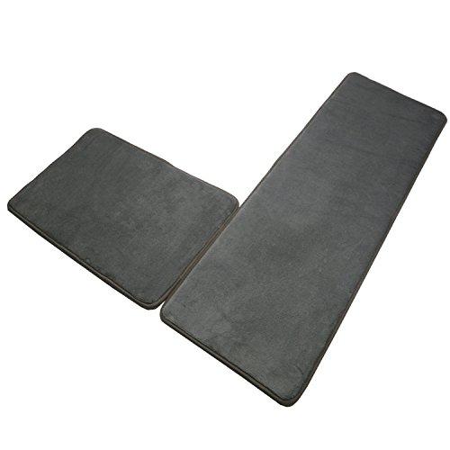 - SHACOS Memory Foam Bath Rugs Mats Set of 2 Non Slip Soft Bathroom Runner Rugs Kitchen Mats Absorbent Washable (16×24