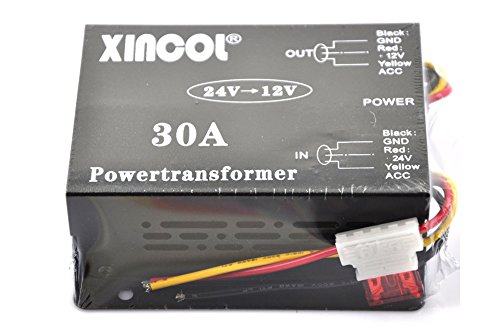 Ultra Ram Memory - XINCOL 30A 360W Volts Reducer DC/DC Car Truck DC 24V to DC12V Buck Converter Step-down Transformer with Built-in Fan Full Protections Inside Memory RAM And Inline Fuse