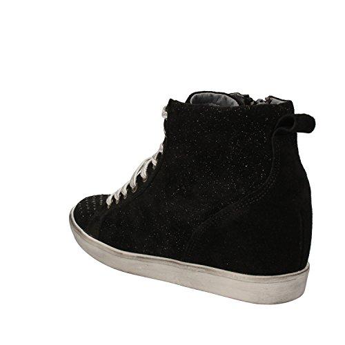 KEYS Sneakers Donna Nero Camoscio Strass AD152