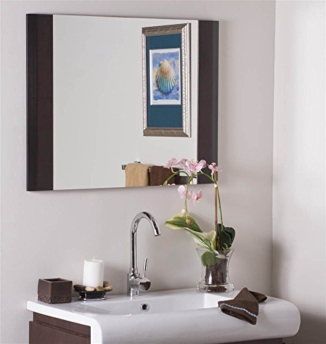 Finish Mirror Modern Cappuccino - Decor Wonderland Wall Mirror in Cappuccino Finish