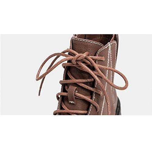 testa I piedi hanno piatti brown Stivali stivali rotonda scivolosi d'inverno termici una 42 donna Piccoli da buona UqxEzSwntx