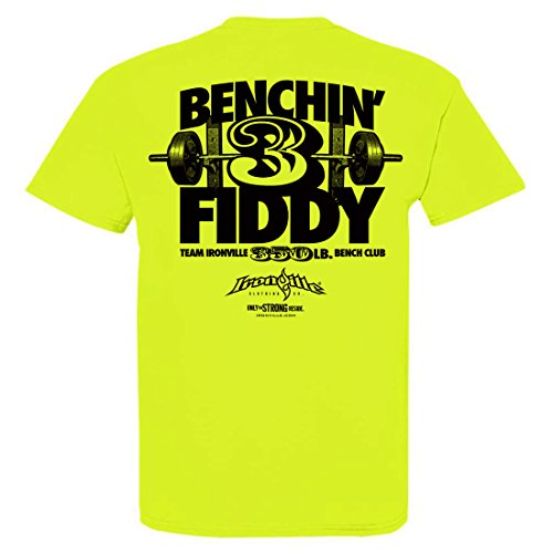 Ironville 350 Pound Bench Press Club T-Shirt (large, (7521 Series)
