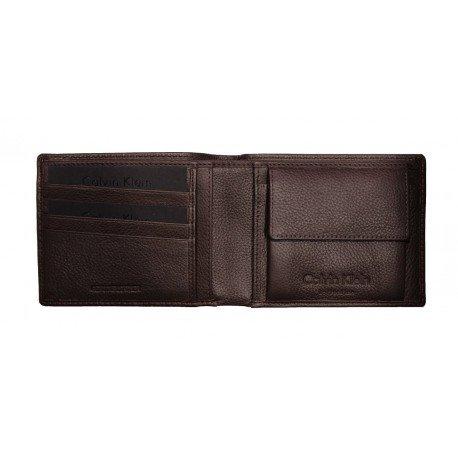 Calvin Klein Collection-Cartera para hombre piel, para monedas, tarjetas de crédito de cuero pequeño: Amazon.es: Equipaje