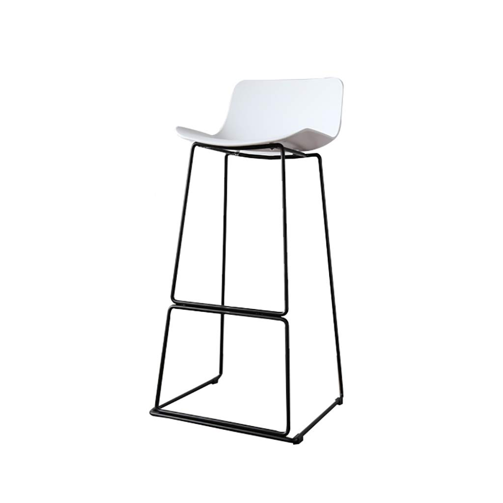 White×2 75CM A-Fort Bar Stool, Bar Chair, Counter Chair, Restaurant High Stools, Iron Leisure Stool PP Anti-Aging Panel Steel Frame Suitable Bar Counter Modern Bar Stool Home Stool Office Chair Decoration Stool