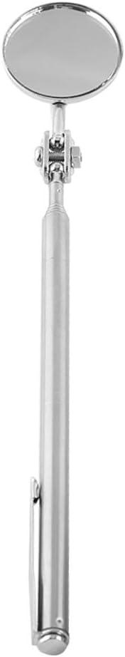 30X600mm Miroir dinspection rond miroir t/élescopique de voiture prolongeant loutil de d/étection de lentille ronde de d/étection