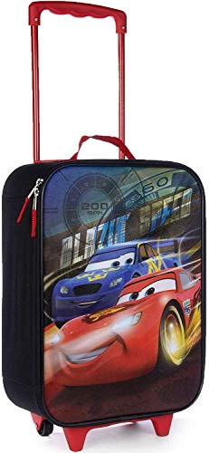 Disney Cars 16 Inch Kids Pilot Case - Rolling Travel Luggage - Carry on Approved