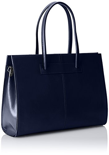 100 Pelle Borsa Blu in Italy documenti porta donna Vera mano Made cartella a RxHS8R
