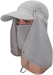 8fec0443 Roffatide UPF 50+ Sun Hat with Neck Flap Removable Multifunction Outdoor  Sport Summer Cap