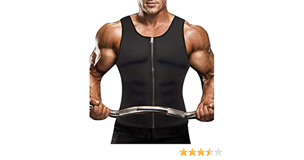 SLIMBELLE Hombre Neopreno Chaleco Modelador Sauna Camiseta ...