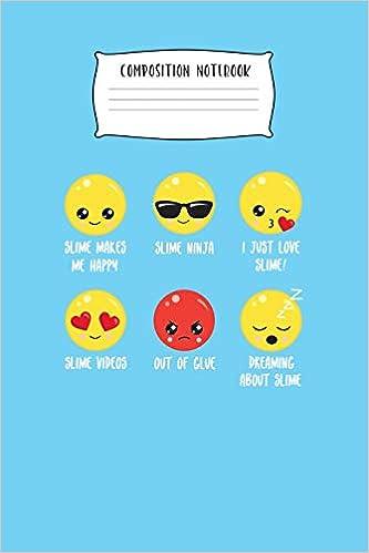 Composition Notebook: Slime Emoji Wide Ruled Composition ...