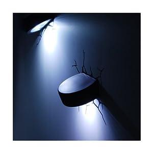 3D -Deko- Licht ~ ~ ~ ~ Puck Sieht aus wie die Eishockey -Pucks sind durch...