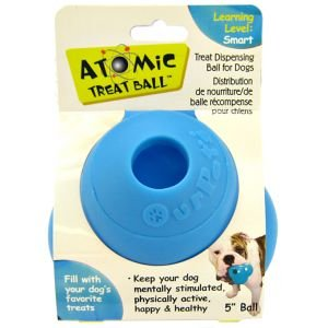 Atomic Treat Ball Interactive Dog Toy, 3-Inch, My Pet Supplies