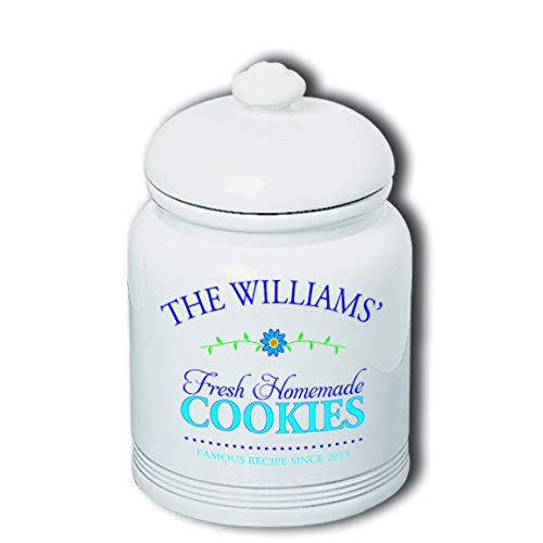 Cookie Jar with Personalized Fresh Homemade Cookies with Family Name