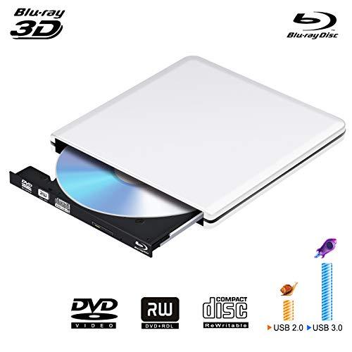 ve,USB 3.0 3D 4K DVD CD Bluray Drive DVD Disc Burner for Apple Mac/PC/MacBook Pro AirWindows10/7/8 ()