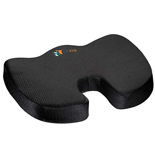Coccyx Seat Cushion Pillow Orthopedic | Memory Foam Chair Pillow | Relieves Back, Tailbone, Sciatica Nerve Pain | Premium Comfort for Home, Office, Car or Event Seating