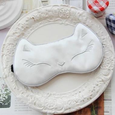 &HUAHUA eyeshade cotton comfortable decompression help sleep Breathable, white HUONIAO