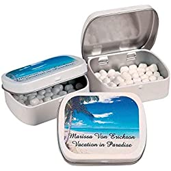 Personalized Tropical Mint Tins with Mints