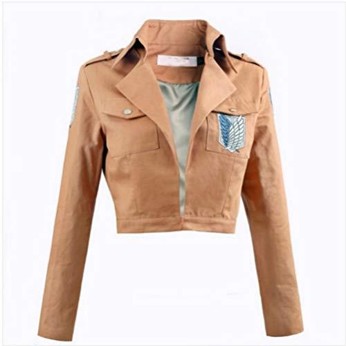 RAIN Attack on Titan Cosplay Costume Logo Printed Jacket Tops Women's Tank Coat Orange ()