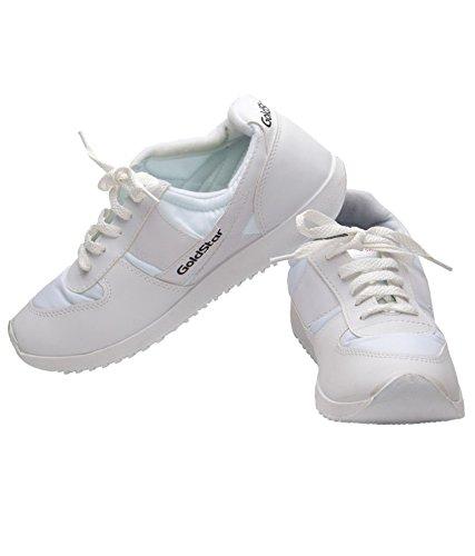 Goldstar Men's White Running Shoes Size