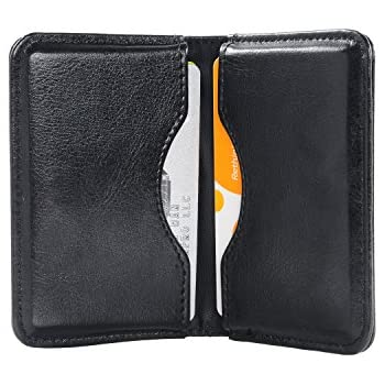 Amazon business card holder wisdompro 2 sided pu leather business card holder wisdompro 2 sided pu leather folio professional name card holder wallet colourmoves