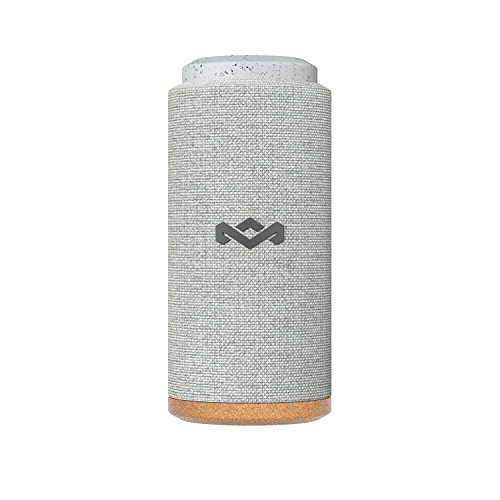 House of Marley, No Bounds Sport, Outdoor Speaker | 12-Hour Battery Life, Water & Dust-Proof (IP67) | Buoyant, Quick Charge, Wireless Dual Speaker Pairing, Aux-In, Carabiner Clip for Travel | Gray