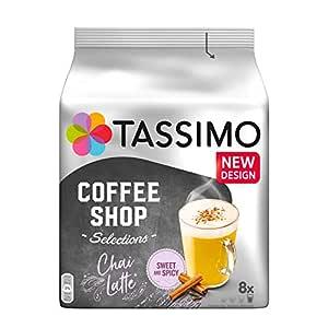 Tassimo Chai Latte 8 T-Discs, (Pack of 5, Total 40 T DISCs) 40 Servings