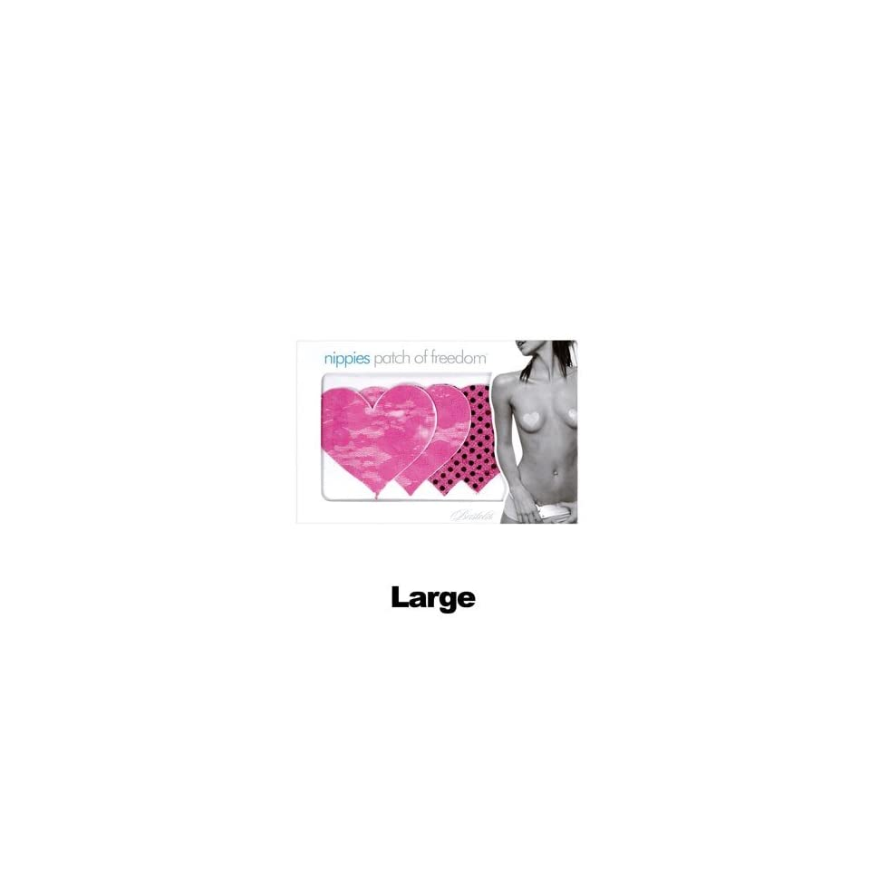Pasties, Rio Hot Pink Large Heart 2 Pack Health