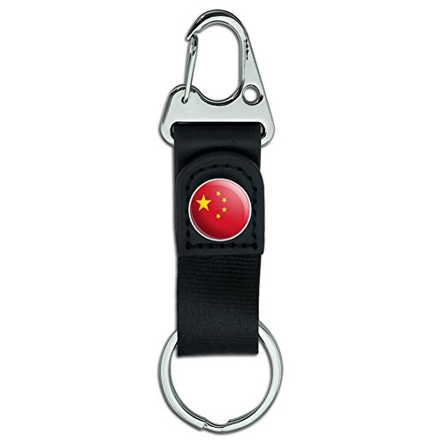 Graphics and More Belt Clip Carabiner Leather Keychain Ke...