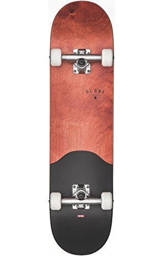 GLOBE Skateboards G1 Argo Street Complete Skateboard, Red Maple/Black - Maple Complete Skateboard