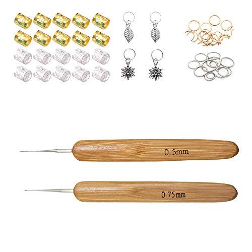 [해외]NEPAK Dreadlocks Crochet Hooks 0.5mm 0.75mm Crochet HookWooden Handle Crochet Needles for Dreads Dreadlock Needle Tool for Braid Craft / NEPAK Dreadlocks Crochet Hooks 0.5mm 0.75mm Crochet HookWooden Handle Crochet Needles for Drea...