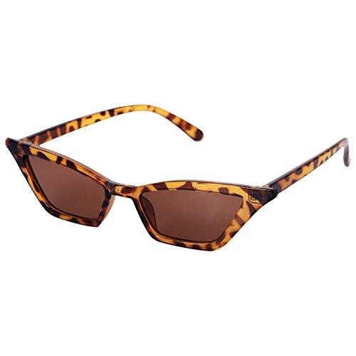 vintage de sol de de SODIAL Negro leopardo gato de lujo mujer Gafas de pequenas de S17077 de negras sol retro sol Gafas de Gafas ojo Gafas senora qUq5Tt