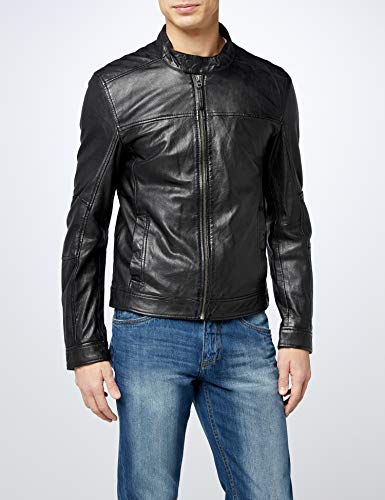 Uomo Nero Earth 1 schwarz On In Pelle Giacca Kings 714qzx