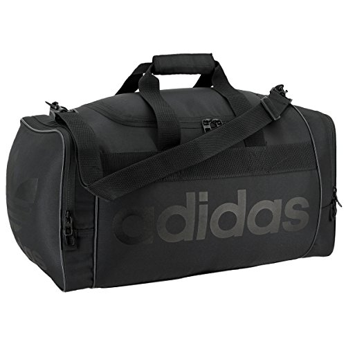 adidas Originals Santiago Duffel Bag, Black/Black, One Size