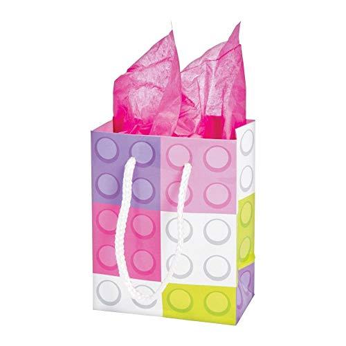 Pastel Color Brick Gift Bags - 12 ct -