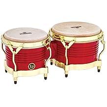 Latin Percussion M201-RW LP Matador Wood Bongos - Blaze Red/Gold Tone