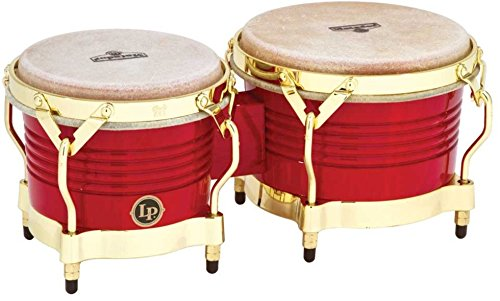 Lp Matador Wood - Latin Percussion M201-RW LP Matador Wood Bongos - Blaze Red/Gold Tone