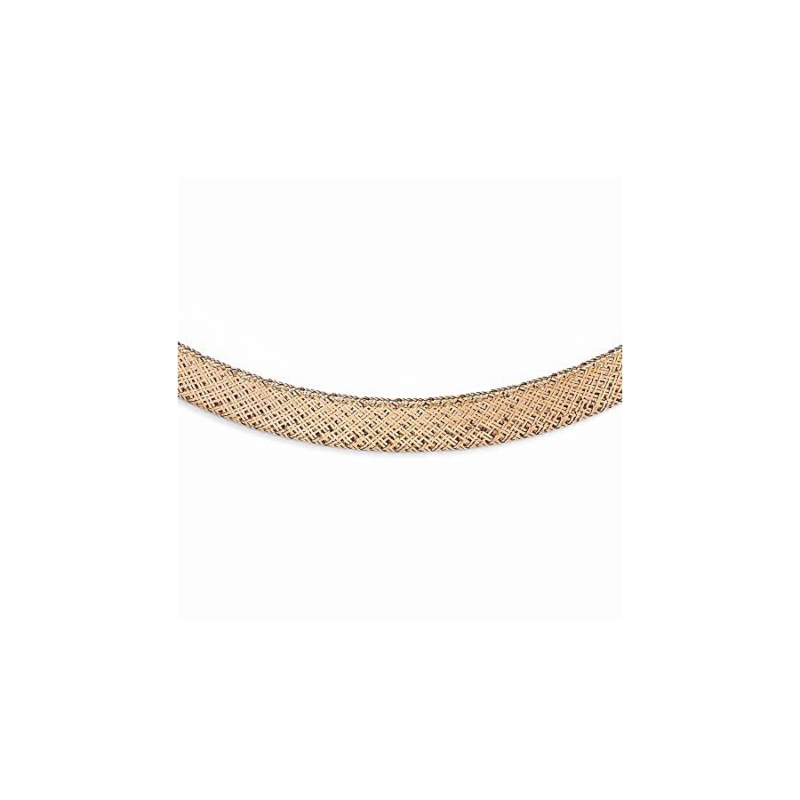 Leslie's 14k Rose Gold Mesh Necklace 18 Inches