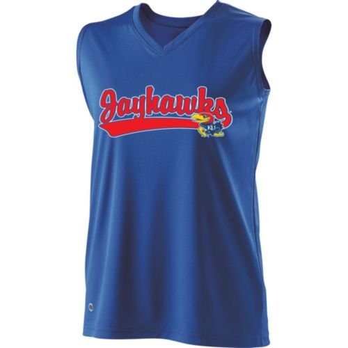 SLEEVELESS V-NECK KANSAS JAYHAWKS Girls Curve Dry-Excel ADULT SMALL Licensed NCAA College Replica Jersey