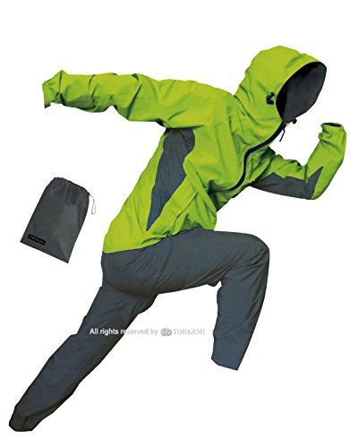 トオケミ(TOHKEMI) 【Field Equipage】 全天候型 アウトドア(透湿レイン) ウェア FE ストレッチ (スリムフィット) Rain Suit (#7900) + キャリーポーチ セット (色選択可能) B071KHSDC4 3L (スリムフィット)|ライム ライム 3L (スリムフィット)