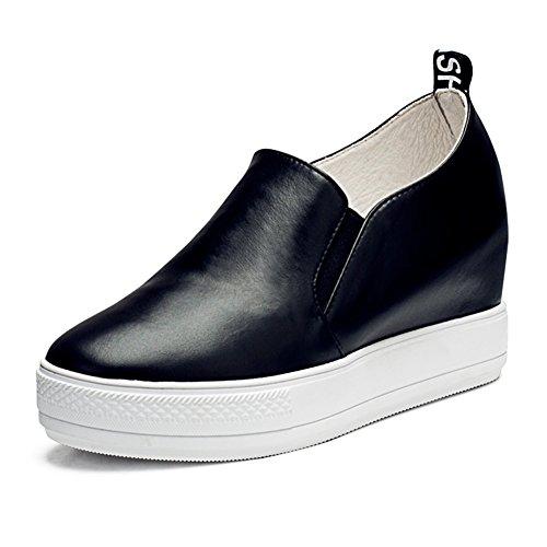 Grueso redondo zapatos de plataforma mujer al final de Zapatos del ocio  creciente D 45452ac0cf76